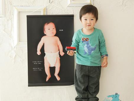赤ちゃんの全身写真・等身大フォト・タペストリー