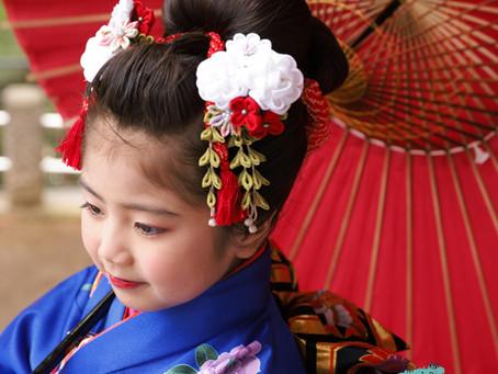 七五三の瀬田玉川神社でロケーション撮影