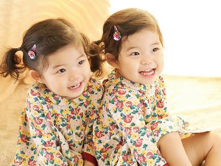 双子ちゃんのお誕生日撮影