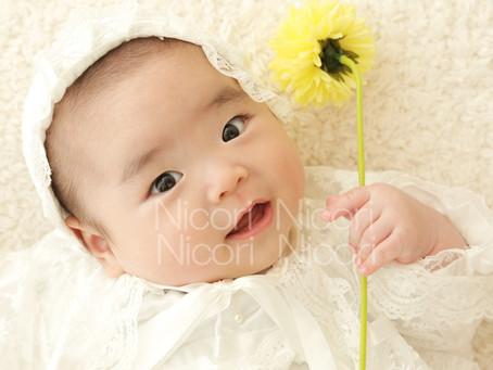 ナチュラルな赤ちゃんのお写真