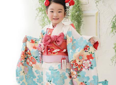3歳の女の子のおしゃれでかわいい七五三
