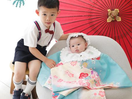 4歳のおにいちゃんと一緒☆3ヵ月の女の子