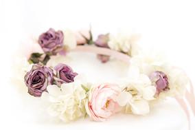 ドライフラワーの花冠