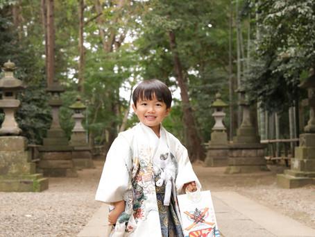 喜多見氷川神社で!出張撮影も承ります!