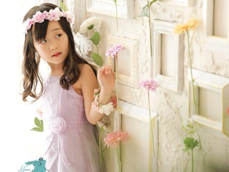 バースデーフォトキャンペーン中☆お花いっぱいのセットで撮ろう♪