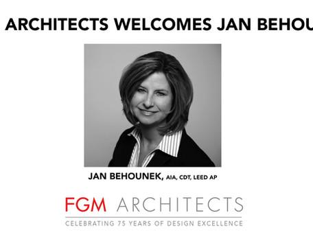 FGM Architects Welcomes Jan Behounek