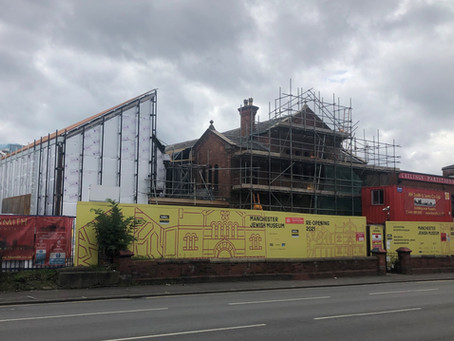 August 2020 Extension to the Manchester Jewish Museum ready for the outer Corten Panelling.
