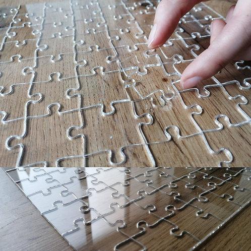 Priehľadné puzzle 100ks