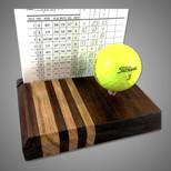 Golf Scorecard Display - Walnut and Zebrawood
