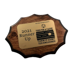Runner Up Cornhole Trophy