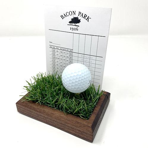 Golf Scorecard Display - Walnut