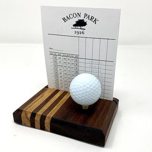Golf Scorecard Display - Walnut & Zebrawood