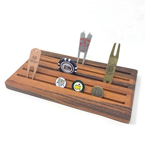 Golf Ball Marker Display - Tigerwood