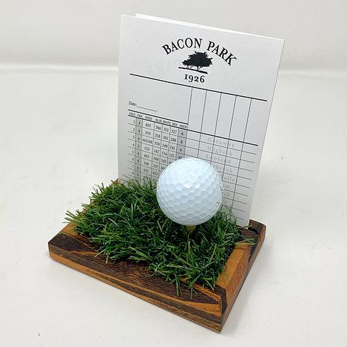 Golf Scorecard Display - Tigerwood