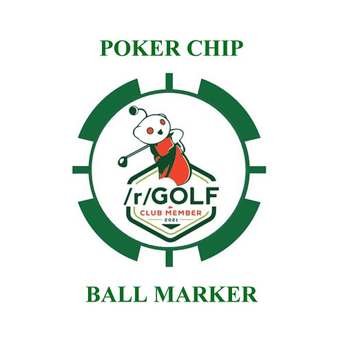 /r/Golf Poker Chip Ball Marker