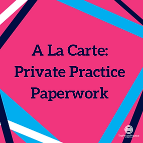 pink infographoc that a la carte: private practice paperwork. Get therapist forms and private practice paperwork now!
