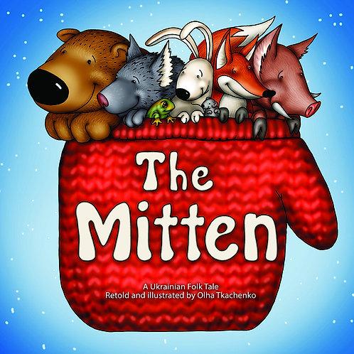 The Mitten. Bilingual English-Ukrainian picture book