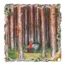 """""""Little Red Riding Hood In the fields"""", Illustration by Olya Tkachenko"""