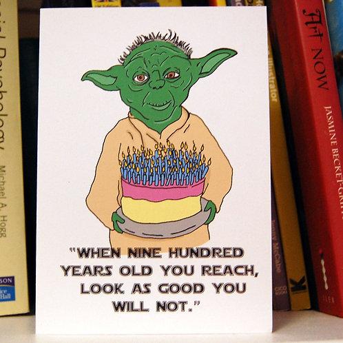 Yoda Birthday Card