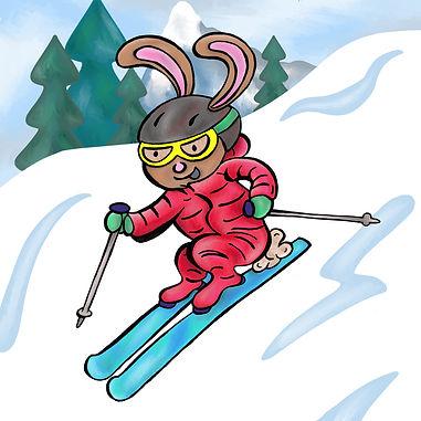 ski bunny illustration | Pitman Draws