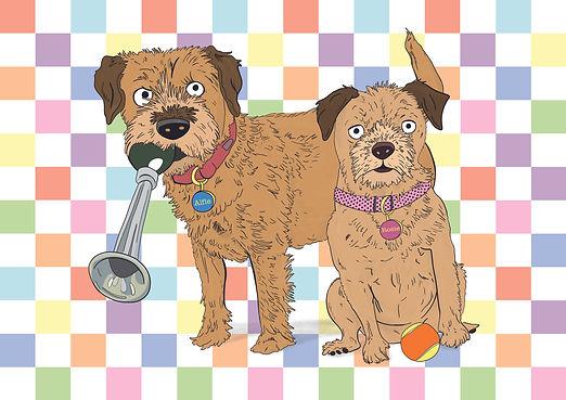 Border Terrier's Pet Portrait | Pitman Draws