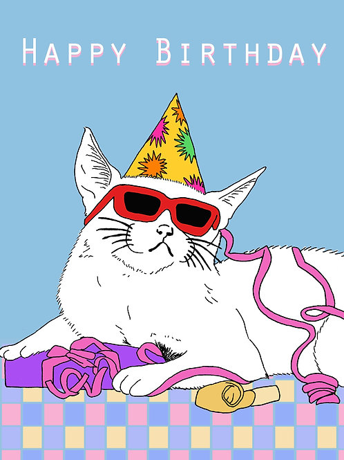 Happy Birthday Sunglasses Kitty