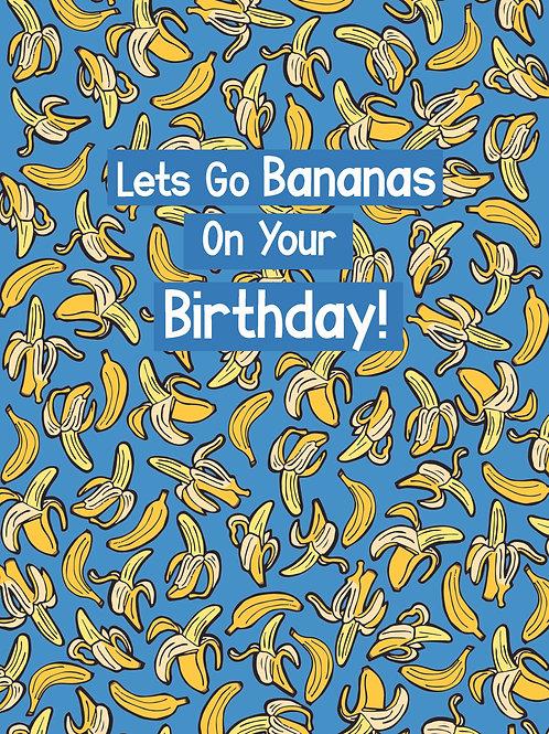 Birthday Banana's Greeting Card