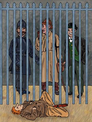 Sherlock Holmes - The Man with the Twisted Lip | Pitman Draws
