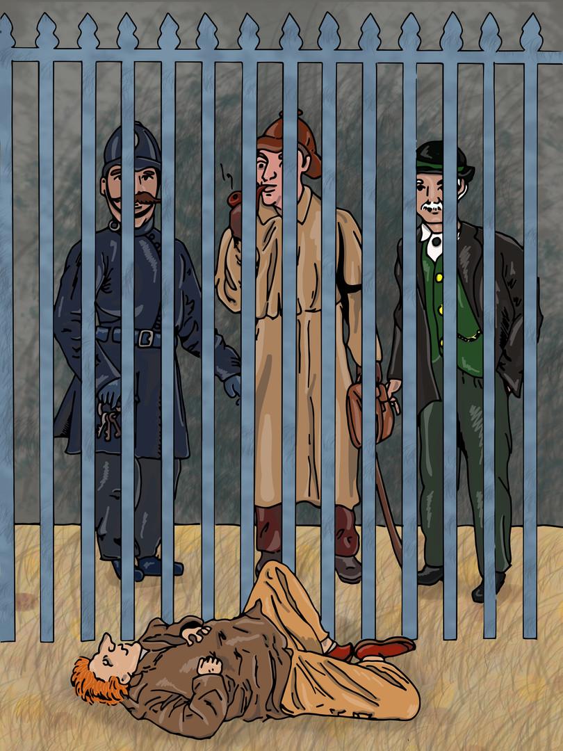 Sherlock Holmes - The Man with the Twisted Lip   Pitman Draws