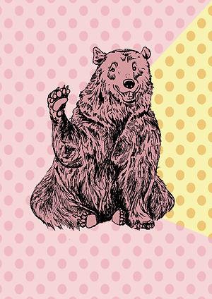 Waving Bear | Pitman Draws