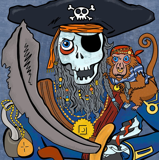 Zombie Pirate Halloween Illustration | Pitman Draws