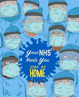 NHS Stay at Home | Pitman Draws