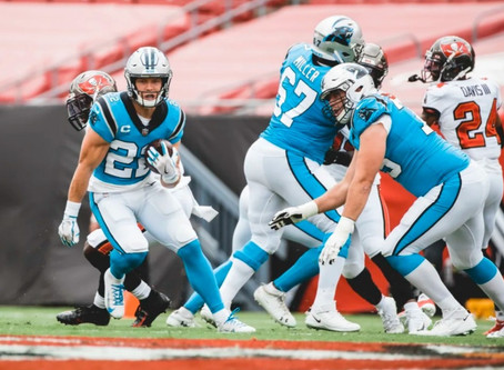 Despite losing Christian McCaffrey, Panthers show signs of greatness in fall to Buccaneers 31-17
