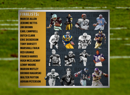Voting panel names finalists for NFL 100 All-Time team