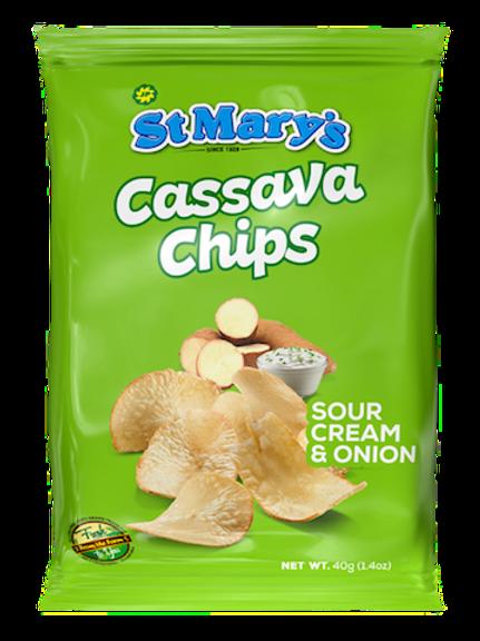 St. Mary's Cassava Chips Sour Cream & Onion 40g