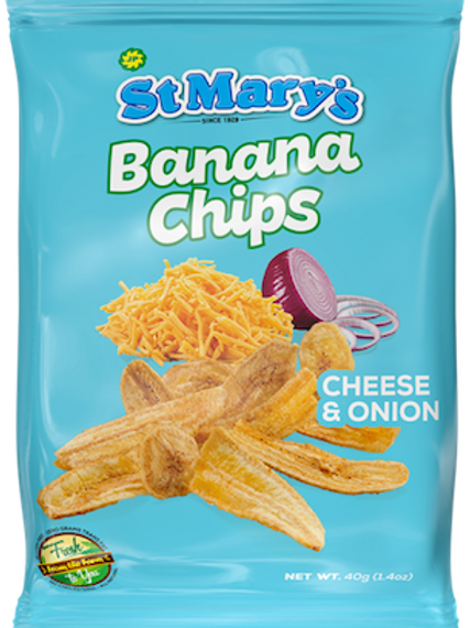 St. Mary's Banana Chips Cheese & Onion 40g