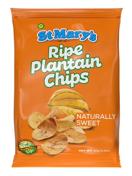 St. Mary's Ripe Plantain Chips 40g (Naturally Sweet)
