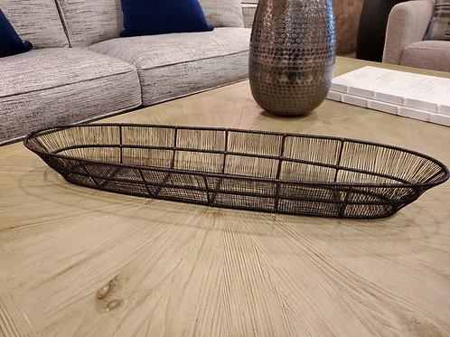 Twisted Wire Oval Basket