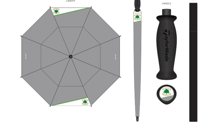 Taylormade Rush Crested Tour Umbrella