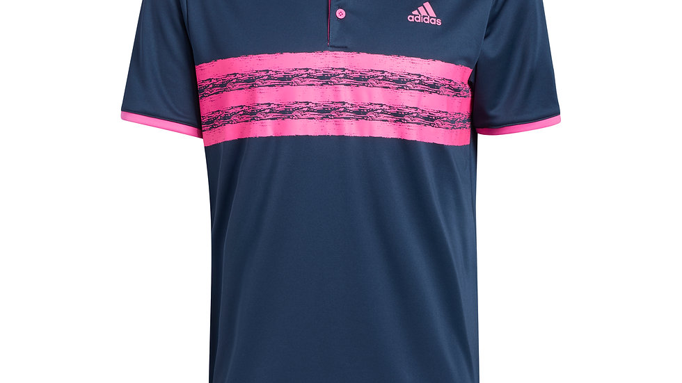 Rush Crested Mens Adidas Core Polo