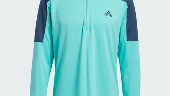 Mens Adidas 1/2 Zip Teal and Navy Midlayer