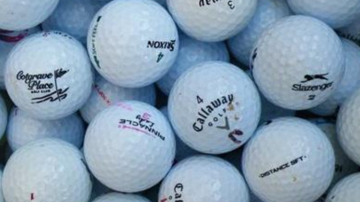 Once Hit, Once Lost, Once Found Golf Balls