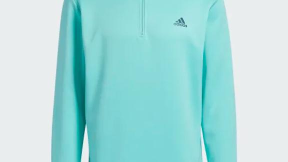 Mens Adidas 1/2 Zip Teal Midlayer