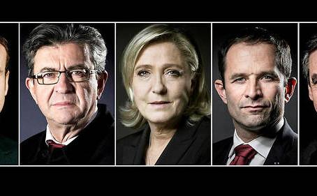 Les candidats de l'élection présidentielle française de 2017