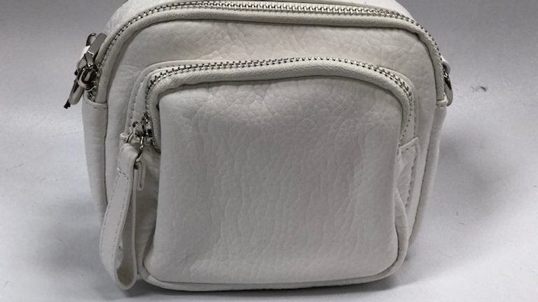 COLAB Triple zip crossbody White