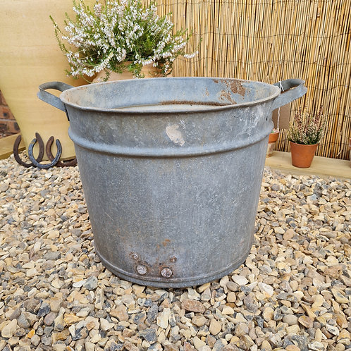 Vintage Galvanised Planter