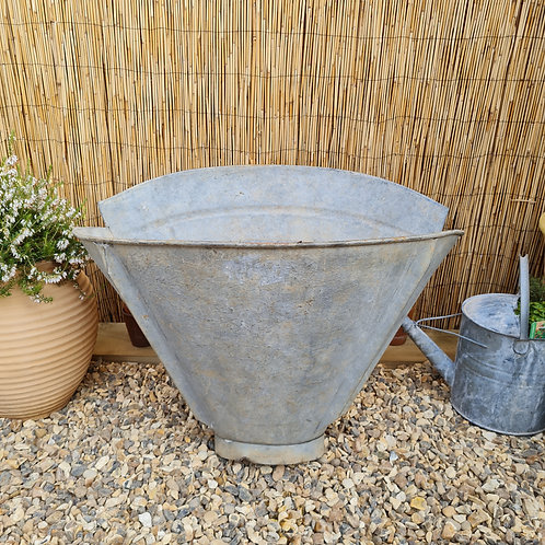 Large Galvanised Grape Hod Planter