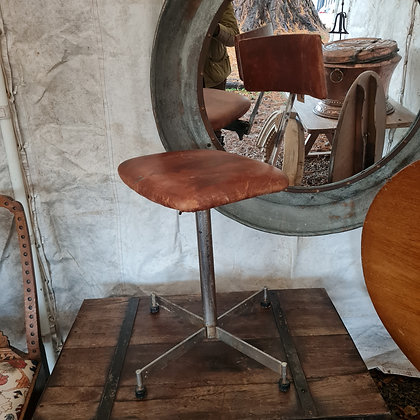 Industrial Leather Swivel Chair