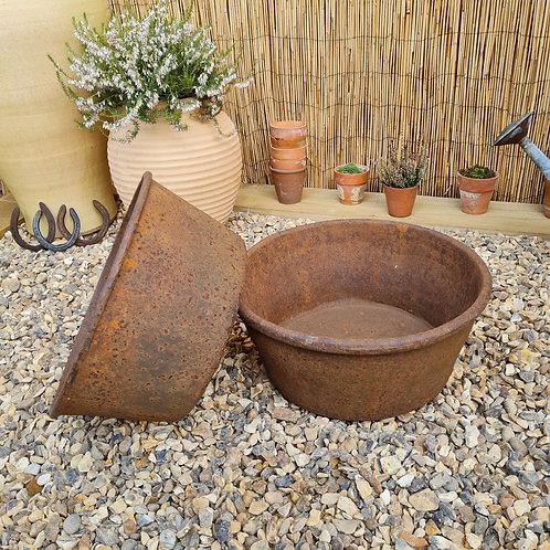 Antique Cast Iron Bowls