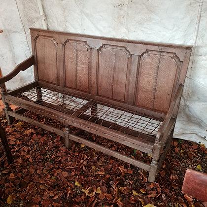 Antique Oak Settle